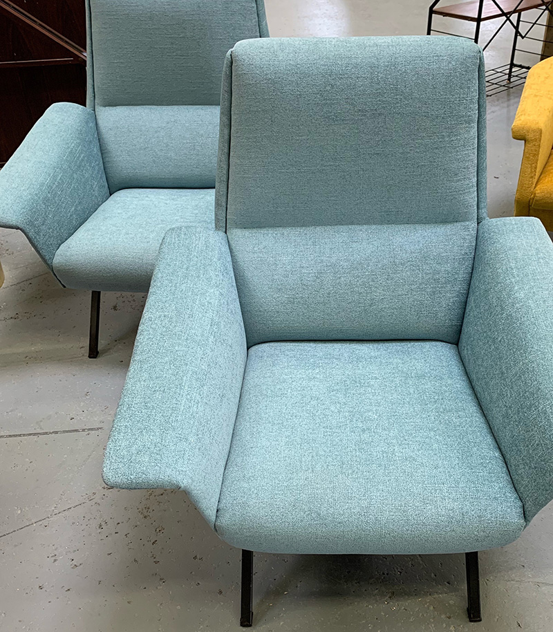 Blue Mid-century Chairs
