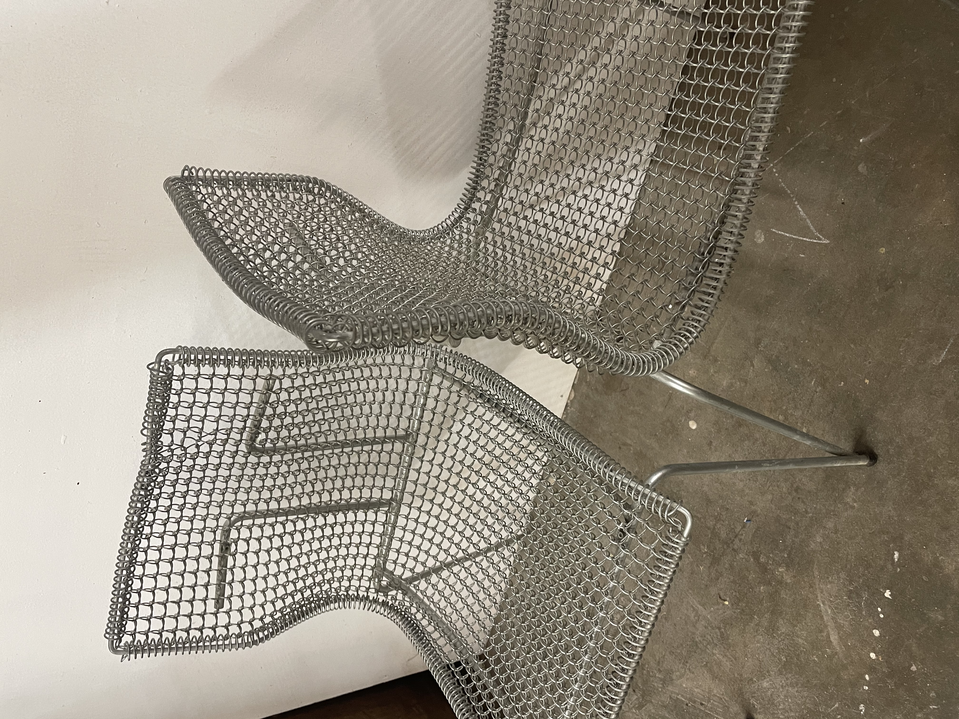 Spanish metal woven chairs