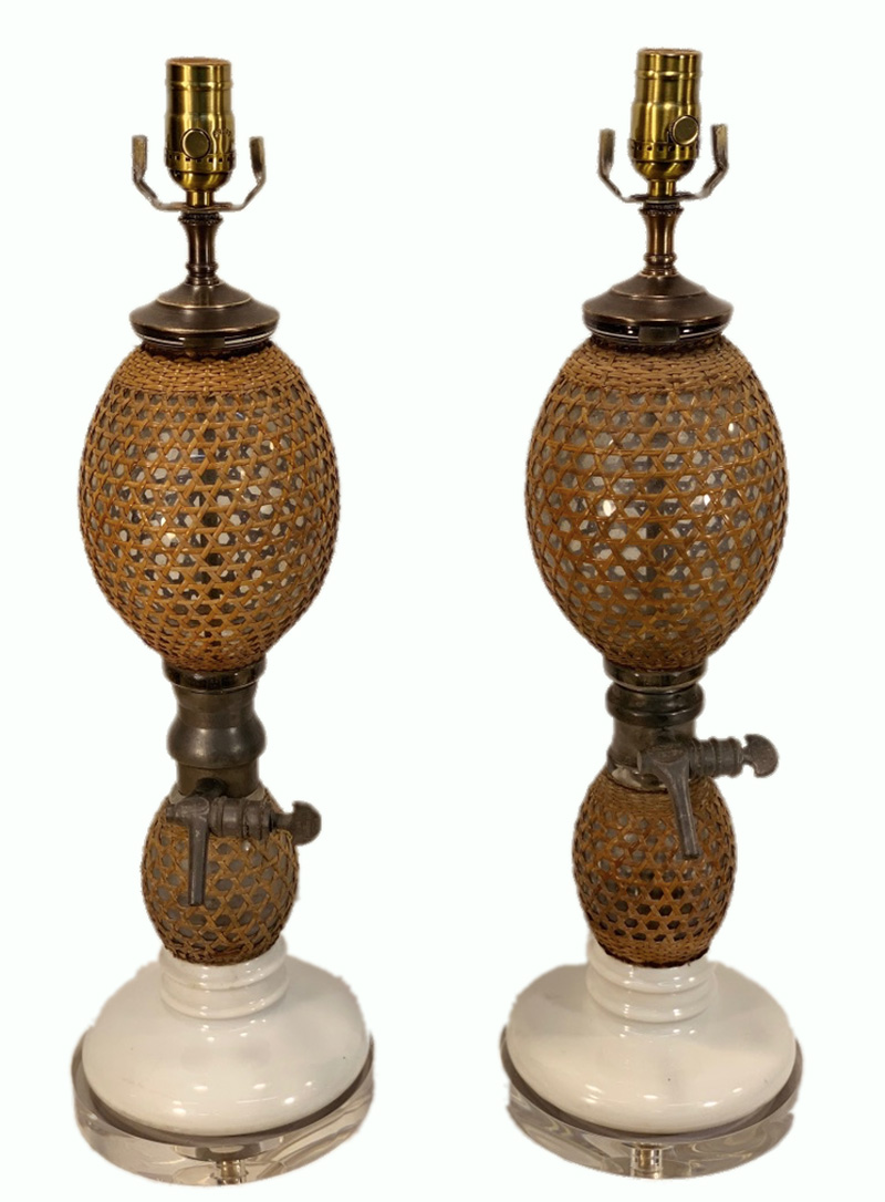 French Selter Bottle Lamps