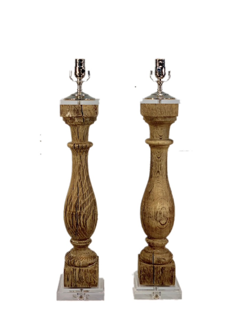18th c. Baluster Lamps
