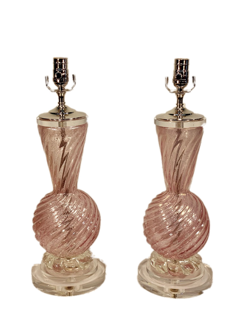 Italian Murano Glass Lamps