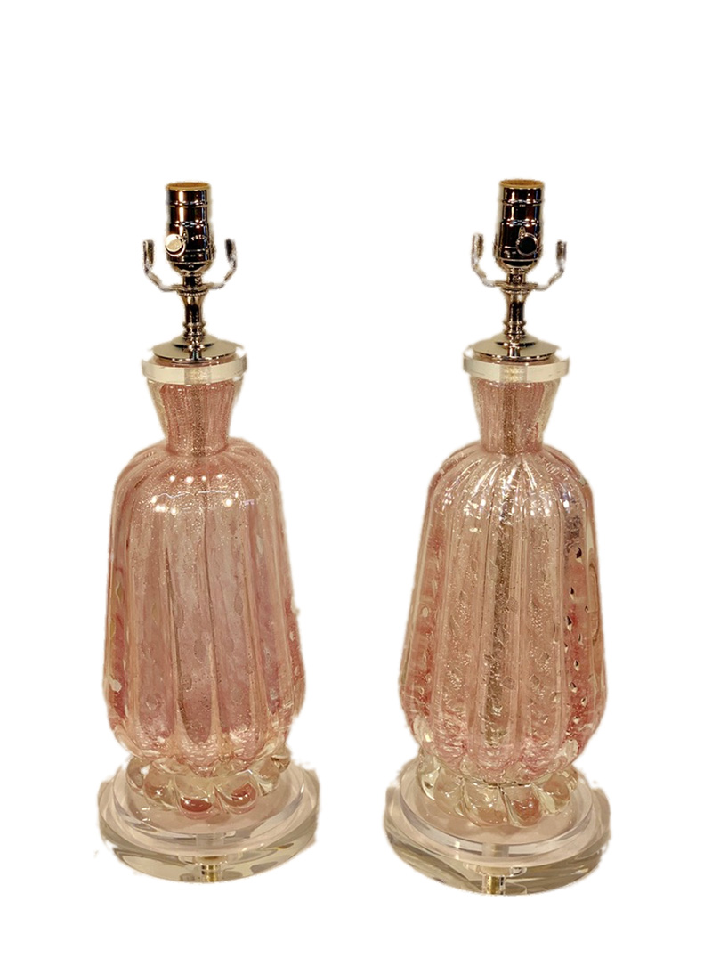 20th c. Italian Murano Glass Lamps