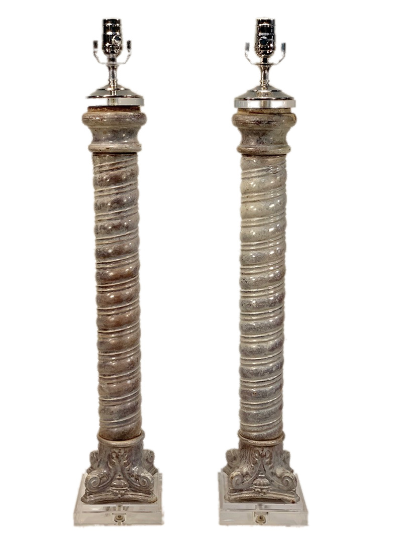 Enamel Glazed Column Lamps