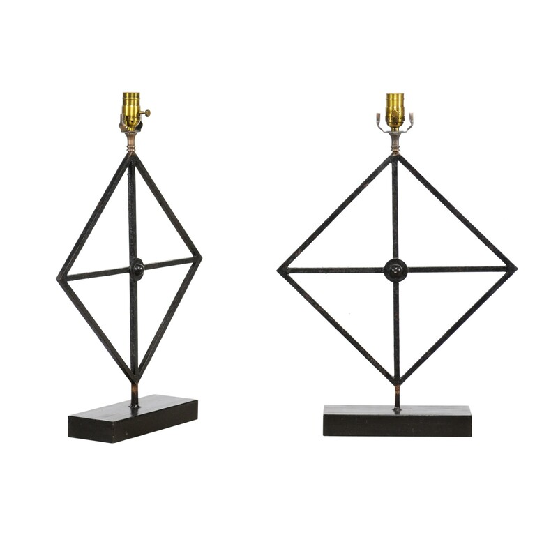 1920s  French Architectural Iron fragment Lamps