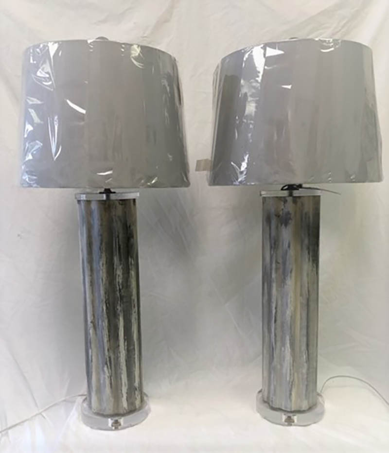 Reeded Metal Lamps