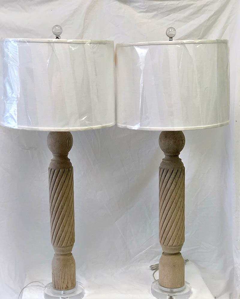 Wooden Bleached Lamps